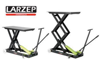 Stoły hydrauliczne firmy Larzep serii F wyposażone są w specjalny pedał do szybkiego podnoszenia stołu aż do kontaktu z ładunkiem oraz specjalny zawór do opuszczania ciśnienia w cylindrze.